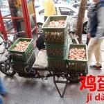 電動バイクで運びすぎた卵の結末。卵(ニワトリの卵)【鸡蛋】