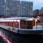 東京観光で屋形船からの初スカイツリー。屋形船【屋形船】