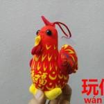 中国新年の縁起のよい名物干支グッズ。人形【玩偶】
