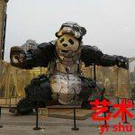 中国社会を風刺するパンダ彫刻の登場。芸術家【艺术家】