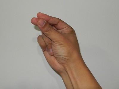 中国式に数字の七を手で表現