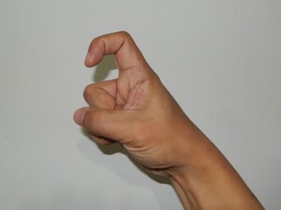 中国式に数字の九を手で表現