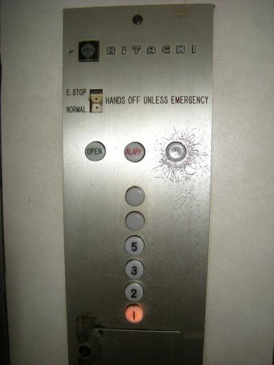 四の数字がないエレベーター