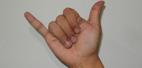 中国流数字を手で表現