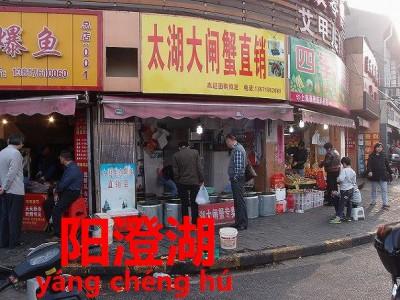 上海市民が購入する上海蟹