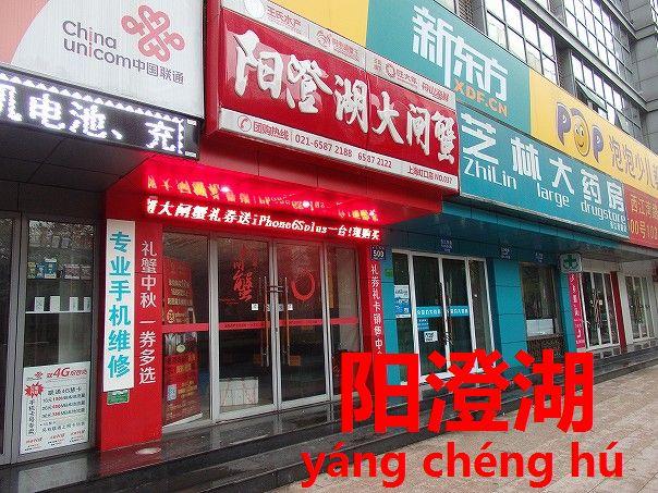 上海蟹の産地は上海ではなく江蘇省