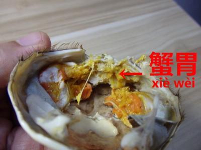 上海蟹の食べていけない胃