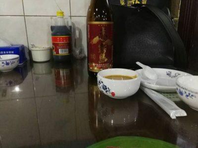 中国北京料理店で芋焼酎の赤霧島