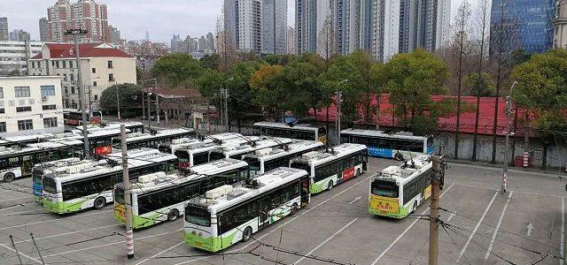 上海のトローリーバス