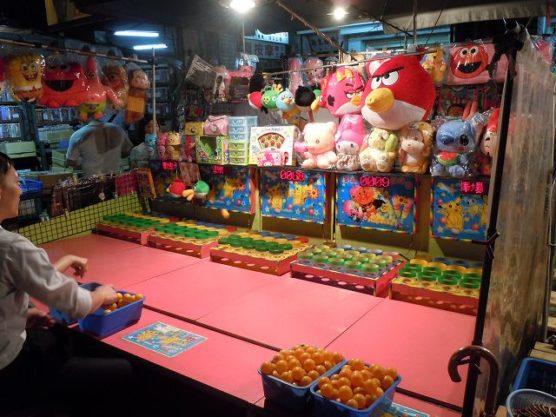 夜市の遊戯施設