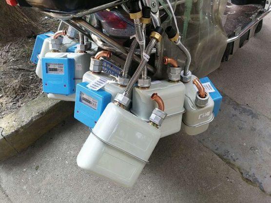 ガスメーター交換バイクズーム