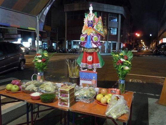 台湾台中の鬼月の飾り