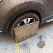 中国の停車措置の前輪