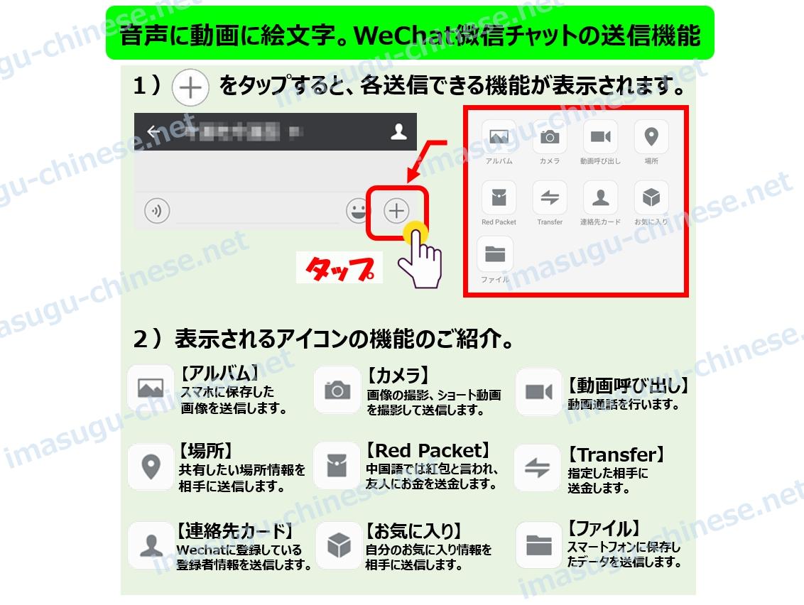 WeChatチャットのアイコン紹介
