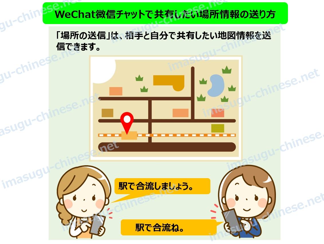 WeChatで固定場所の共有の紹介