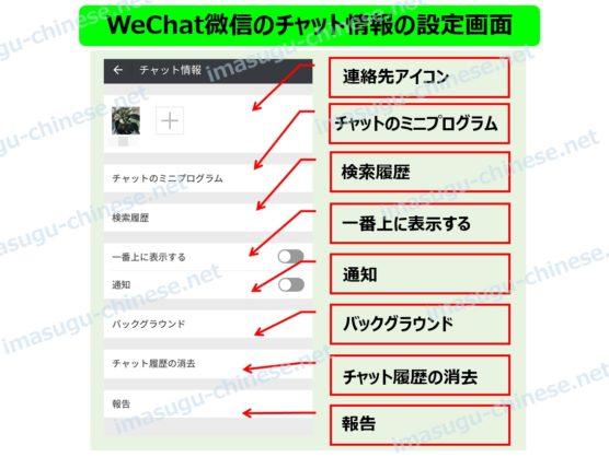 WeChat微信のチャット情報の設定
