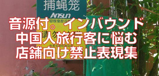 音源付。インバウンド中国人旅行客に悩む店舗向け禁止表現集見出し