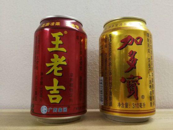 王老吉と加多宝の缶