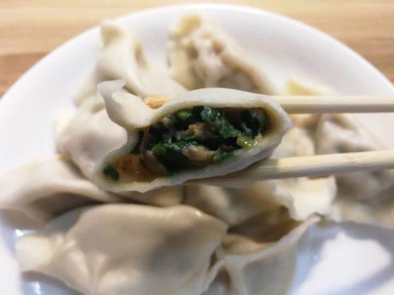 ニラと豚肉の中国本場の水餃子