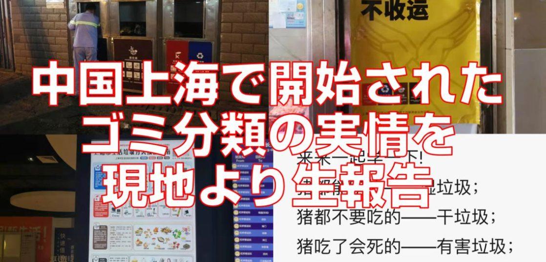 中国上海で開始されたゴミ分類の実情を現地より生報告