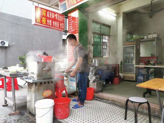 中国広東省の腸粉の調理法