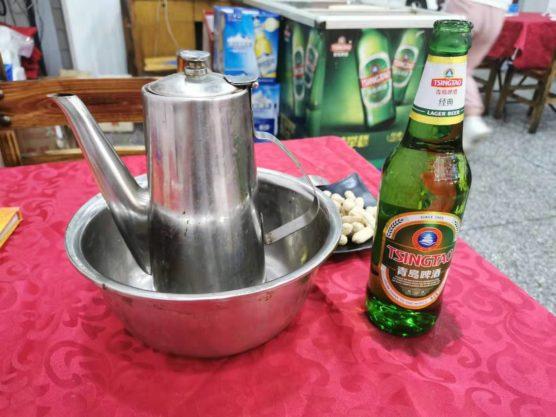 中国はお茶で食器洗い