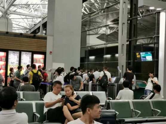 中国空港トラブル