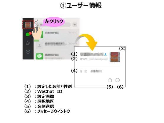 WeChatパソコン機能ユーザー情報
