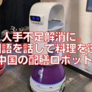 人手不足解消に。中国語を話して料理を運ぶ中国の配膳ロボット