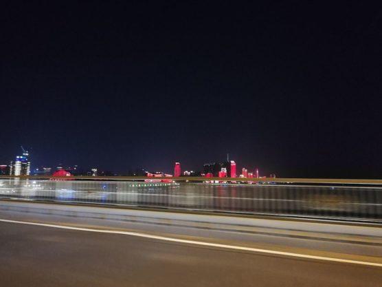 湖北省武漢の夜