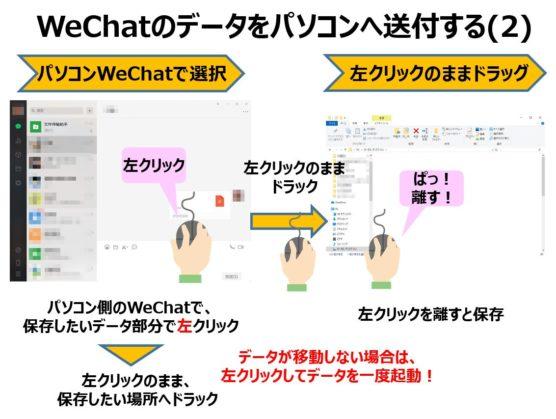 WeChatスマホからパソコンへデータ送信する