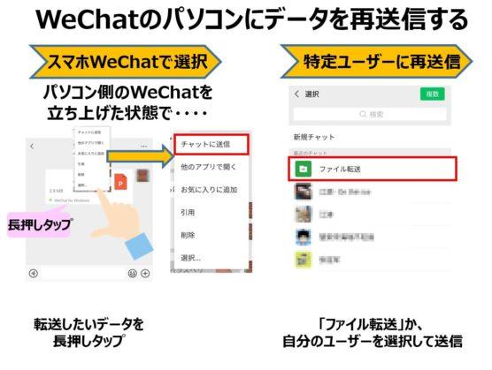 WeChatパソコン版のデータ転送方法
