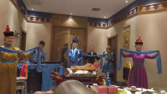 内モンゴル式の歓迎